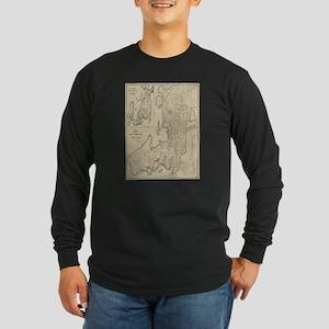 Vintage Map of Newport Rhode I Long Sleeve T-Shirt