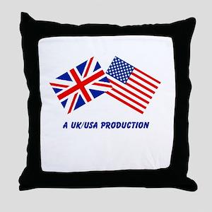 A UK/USA Production Throw Pillow