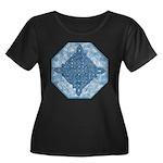 Celtic Diamond Aqua Women's Plus Size Scoop Neck D