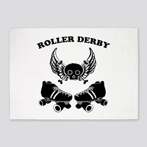 Roller Derby Wings 5'x7'Area Rug