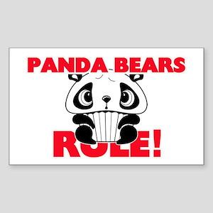 Panda Bears Rule! Sticker