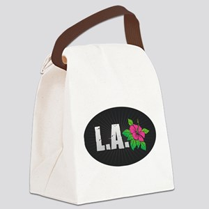 L.A. Hibiscus Canvas Lunch Bag