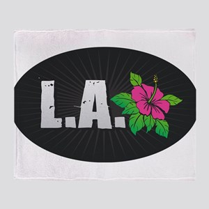 L.A. Hibiscus Throw Blanket