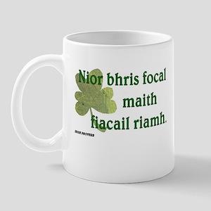 Paddy says...A good word Mug