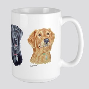 Black Lab & Golden Retriever Large Mug