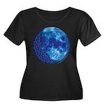 Celtic Knotwork Blue Moon Women's Plus Size Scoop