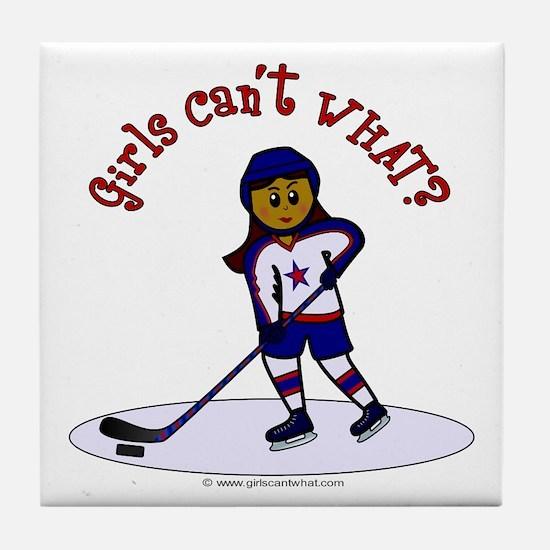 Dark Hockey Tile Coaster