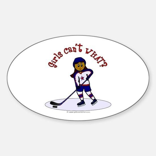 Dark Hockey Oval Decal