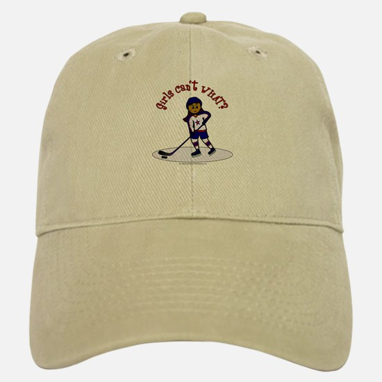 Dark Hockey Baseball Baseball Cap