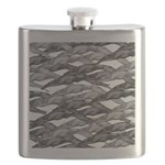 Greyhounds Leaping Art Deco Flask