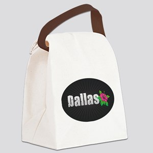 Dallas Hibiscus Canvas Lunch Bag