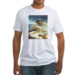 Rowboat by Elsie Batzell Fitted T-Shirt