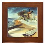 Rowboat by Elsie Batzell Framed Tile