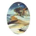 Rowboat by Elsie Batzell Oval Ornament