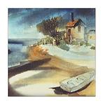 Rowboat by Elsie Batzell Tile Coaster