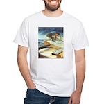 Rowboat by Elsie Batzell White T-Shirt