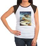 Rowboat by Elsie Batzell Women's Cap Sleeve T-Shir
