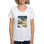 Rowboat by Elsie Batzell Women's V-Neck T-Shirt