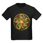 Celtic Pentacle Spiral Kids Dark T-Shirt