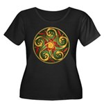 Celtic Pentacle Spiral Women's Plus Size Scoop Nec