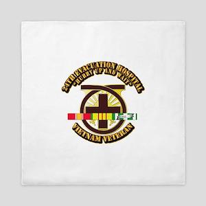 Army - 24th Evacuation Hospital w SVC Ribbon Queen