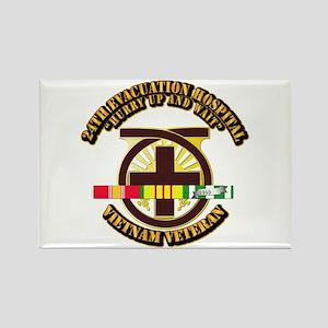 Army - 24th Evacuation Hospital w SVC Ribbon Recta