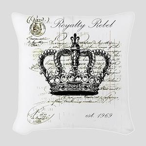 Royalty Rebel Woven Throw Pillow