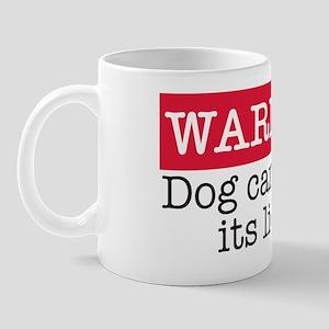 warning: Dog cant hold its licker Mug