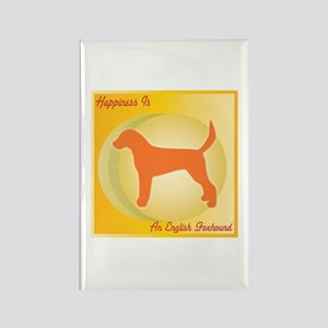 Foxhound Happiness Rectangle Magnet