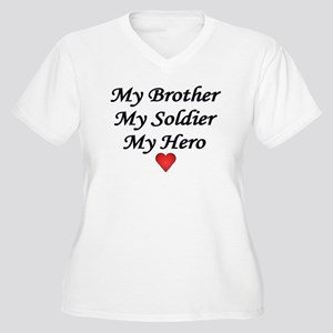 My Brother My Soldier My Hero Women's Plus Size V-