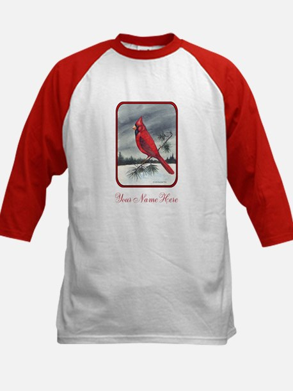 Red Northern Cardinal Bird Personalize Baseball Je