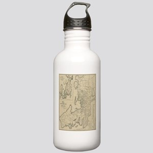 Vintage Map of Newport Stainless Water Bottle 1.0L