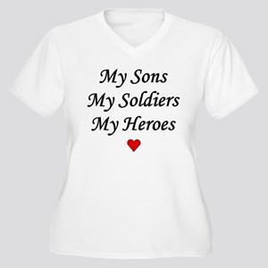 My Sons, My Soldiers, My Hero Women's Plus Size V-