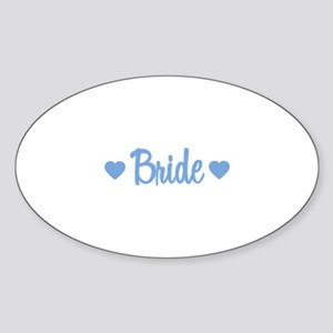 Bride - Blue Oval Sticker