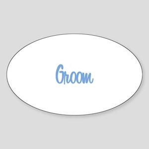 Groom - Blue Oval Sticker