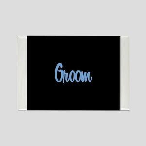 Groom - Blue Rectangle Magnet