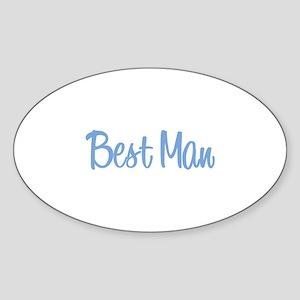 Best Man - Blue Oval Sticker