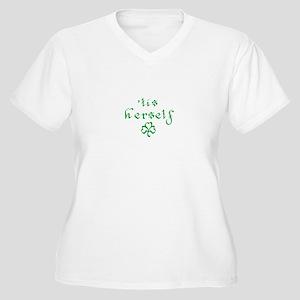 'tis herself Women's Plus Size V-Neck T-Shirt