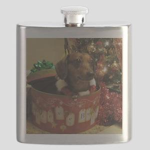 Christmas Dachshund Flask