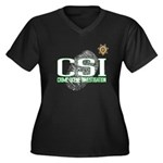 CSI Women's Plus Size V-Neck Dark T-Shirt