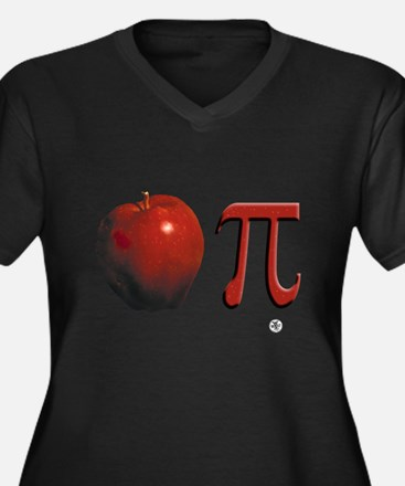 Apple Pi Women's Plus Size V-Neck Dark T-Shirt
