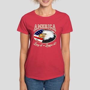 America Love it or Leave it! Women's Dark Tee