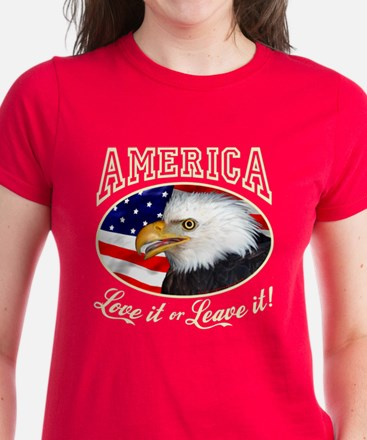 America Love it or Leave it! Women's Dark Tee