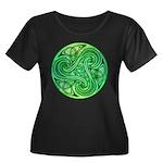 Celtic Triskele Women's Plus Size Scoop Neck Dark