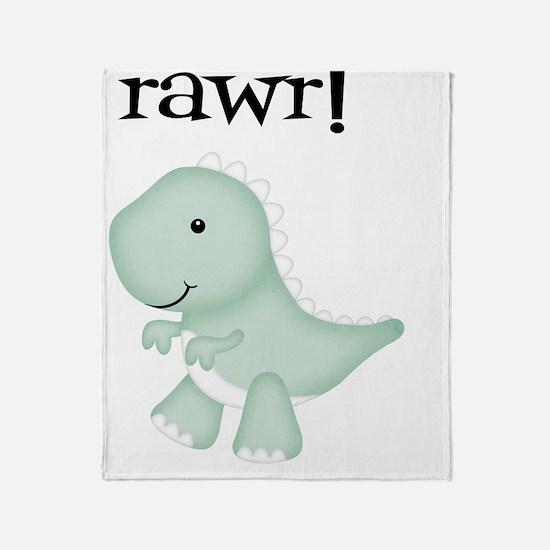 Rawr T-Rex Dinosaur Throw Blanket