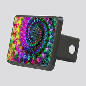 Psychedelic Rainbow Fracta Rectangular Hitch Cover