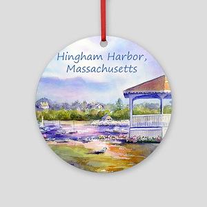 Hingham Harbor Round Ornament