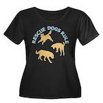 Rescue Dogs Rule Shadow Dogs Women's Plus Size Sc