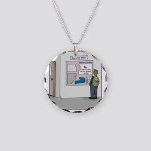 You are Still Here Necklace Circle Charm