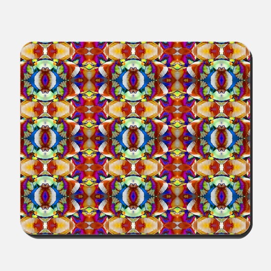 Retro Fractal Art Pattern Mousepad